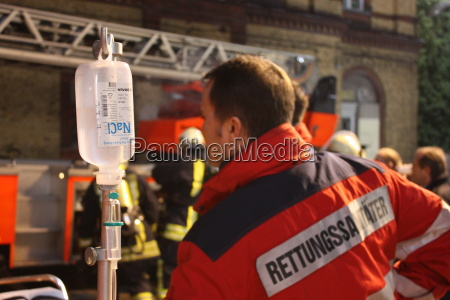 paramedic with infusion