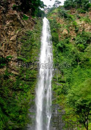 wli waterfall in agumatsa park in