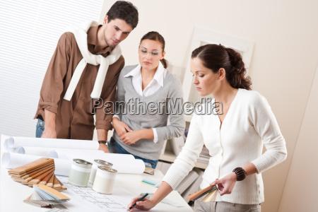 interior designer working at office