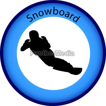 button snowboard winter games