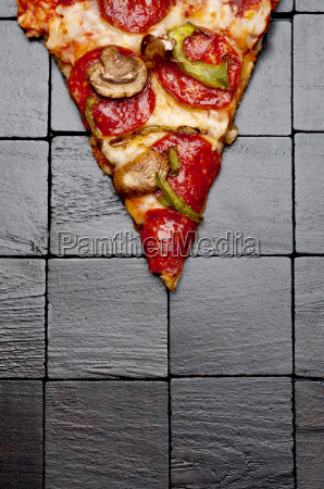 a slice of pizza on a