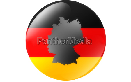 gelbutton of germany with map