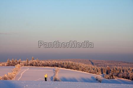 marvel winter landscape in the evening