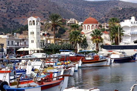 fishing boats in elounda crete