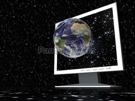 monitor earth 3d