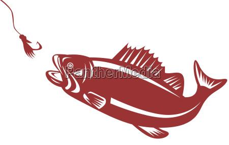 largemouth bass jumping bait