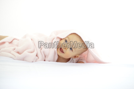 baby with blankie