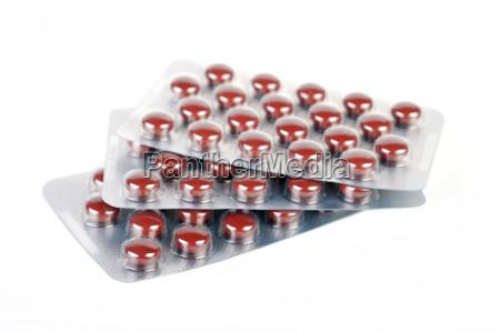 tablets in blister packs
