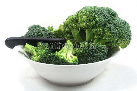 broccoli in a white bowl with