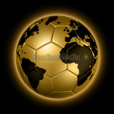 gold soccer football ball world globe