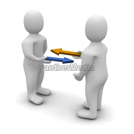 exchange or trade conceptual illustratio