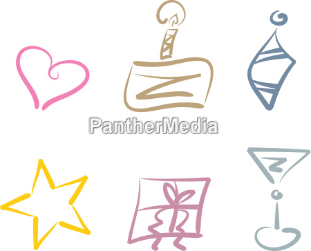 icons for celebrations and holidays