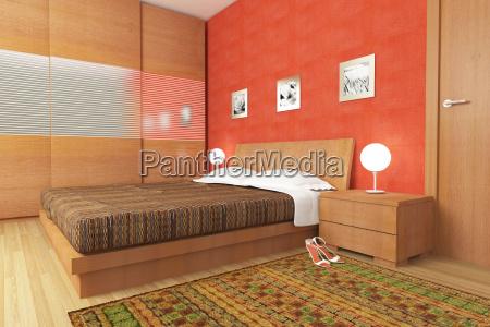modern wood bedroom