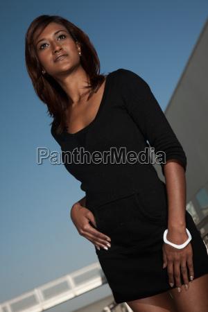attractive twenties indian asian woman standing