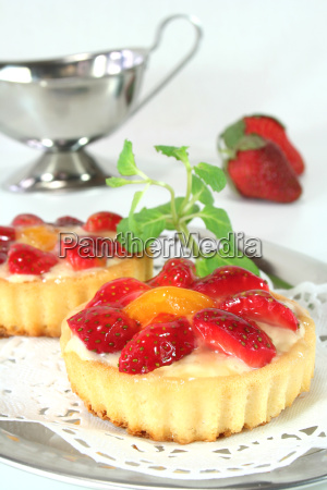 strawberry shortcake with peppermint