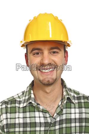 smiling handyman portrait