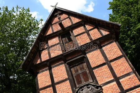 timbered barn