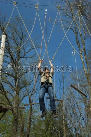 hanging at the u rope bridge