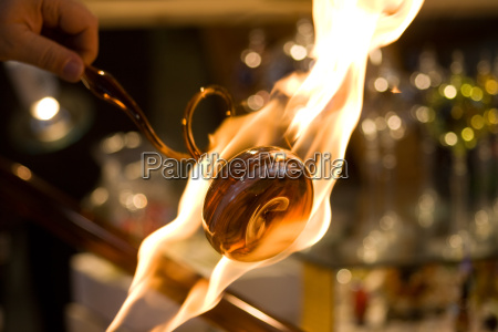 flamed glass