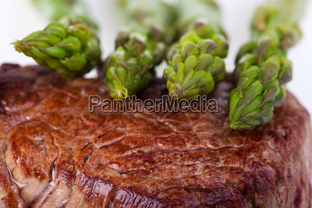 close up of a steak with