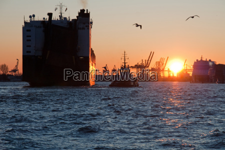 freighter in the evening ii