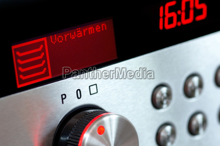 oven with preheating display
