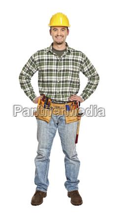 standing young handyman