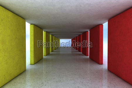 concrete architecture and color design