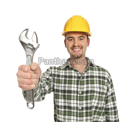 labor portrait isolated on white