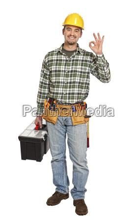 positive handyman smile