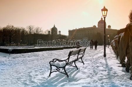 bench in the vienna volkspark