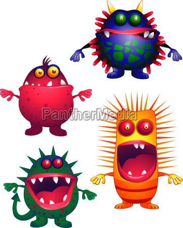 animal, monster, virus, funny, beast, microbe - 2804321