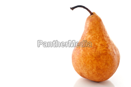 horizontal close up of a pear