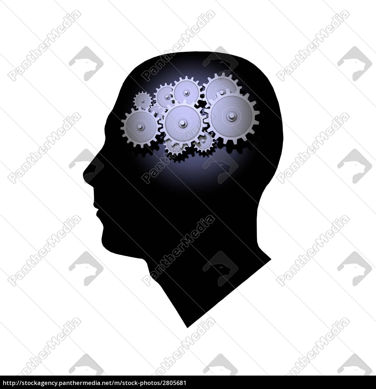 brain, gears - 2805681