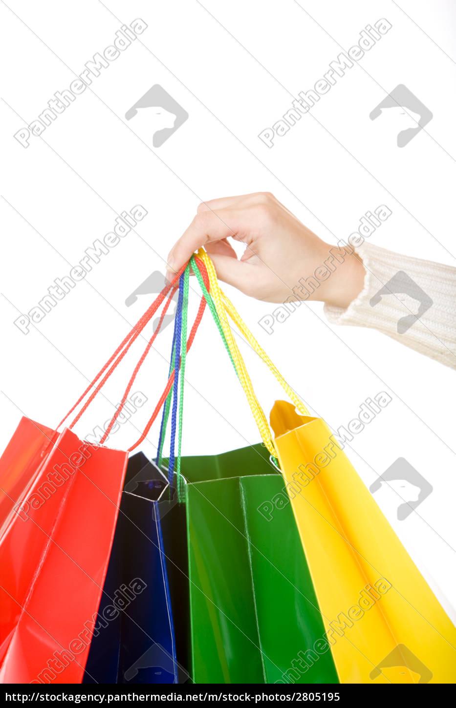 woman, hand, carrying, christmas, shopping, bags - 2805195