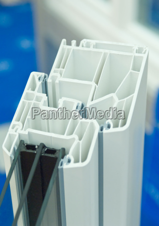 cutaway, model, of, plastic, window, frames - 2808173