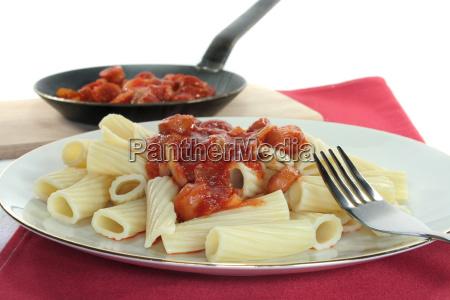 tortiglione with tomato sauce