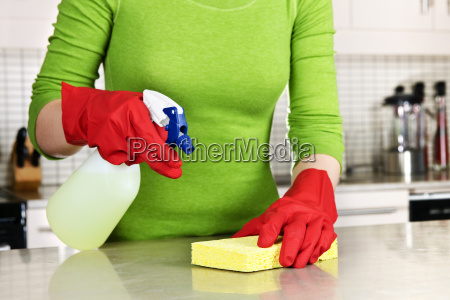 girl, cleaning, kitchen - 2809079