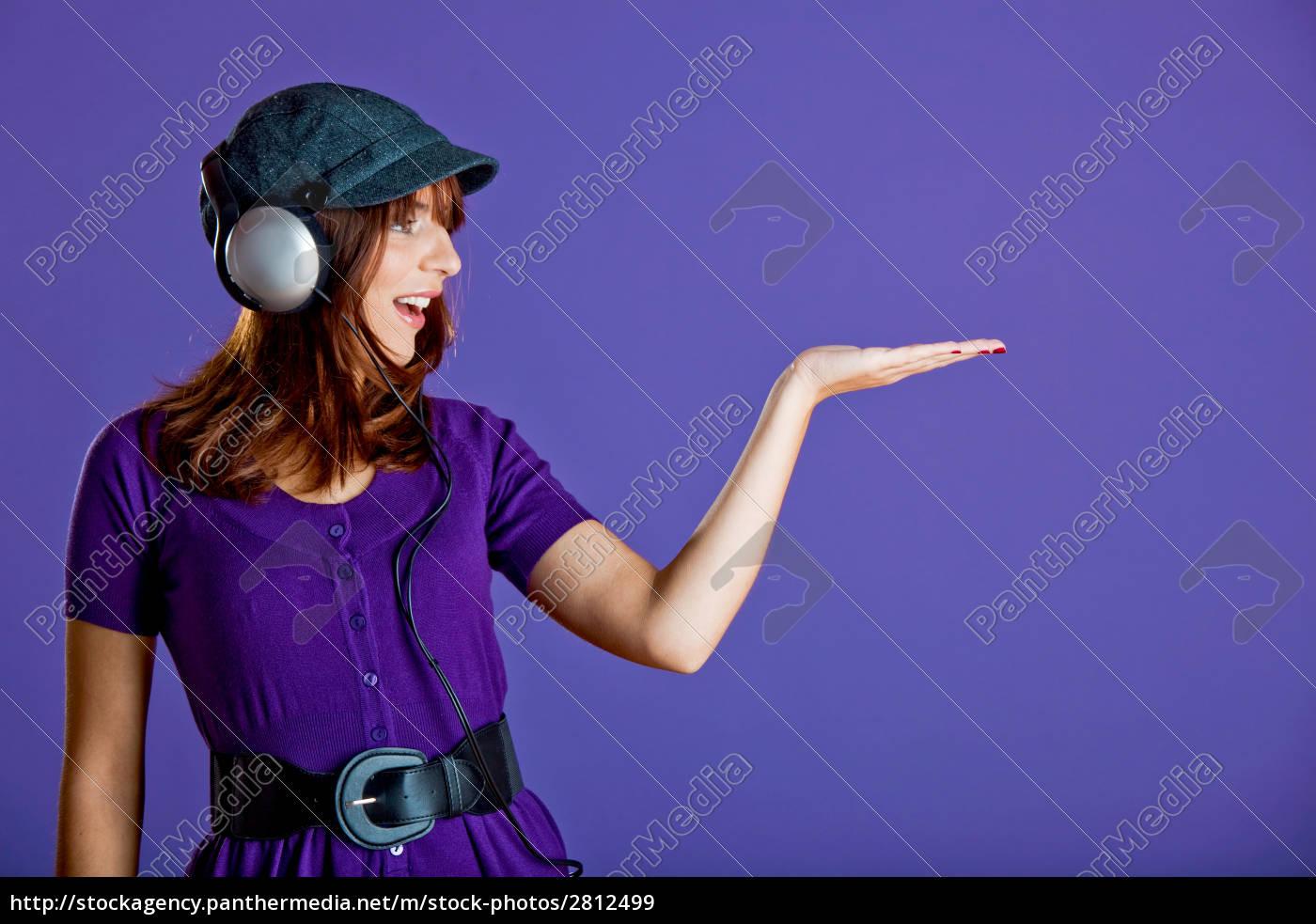 beautiful, woman, listening, music - 2812499