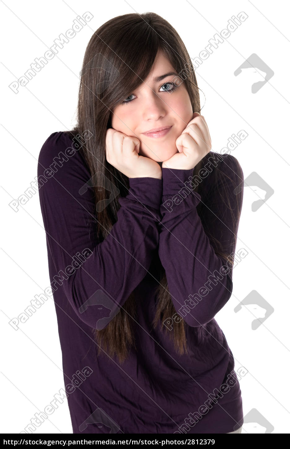 young, woman, tender, isolated - 2812379