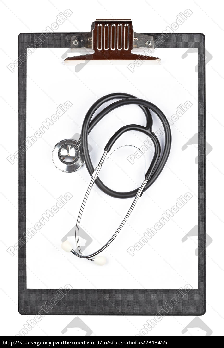 medical, clipboard, with, stethoscope - 2813455