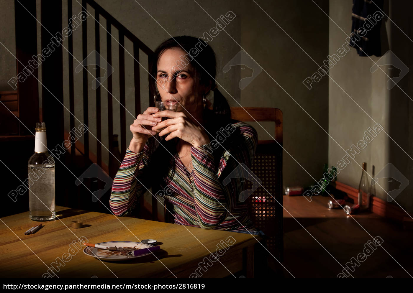 alcoholic, woman, with, bottle, of, clear - 2816819