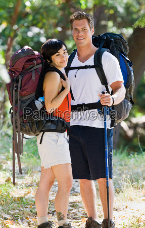 couple, hiking, with, backpacks - 2822869