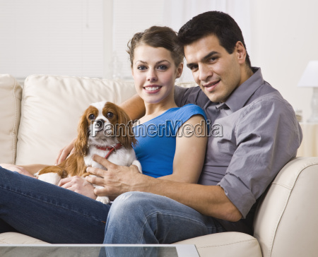couple, with, dog - 2822295