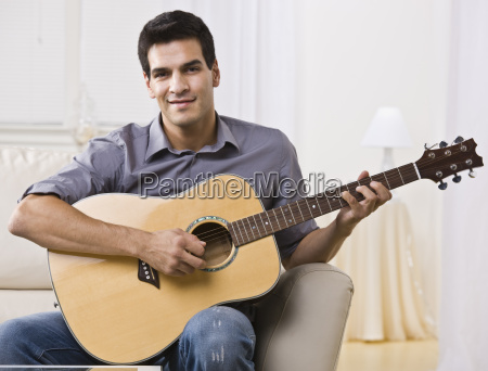 relaxed, man, playing, guitar - 2822199