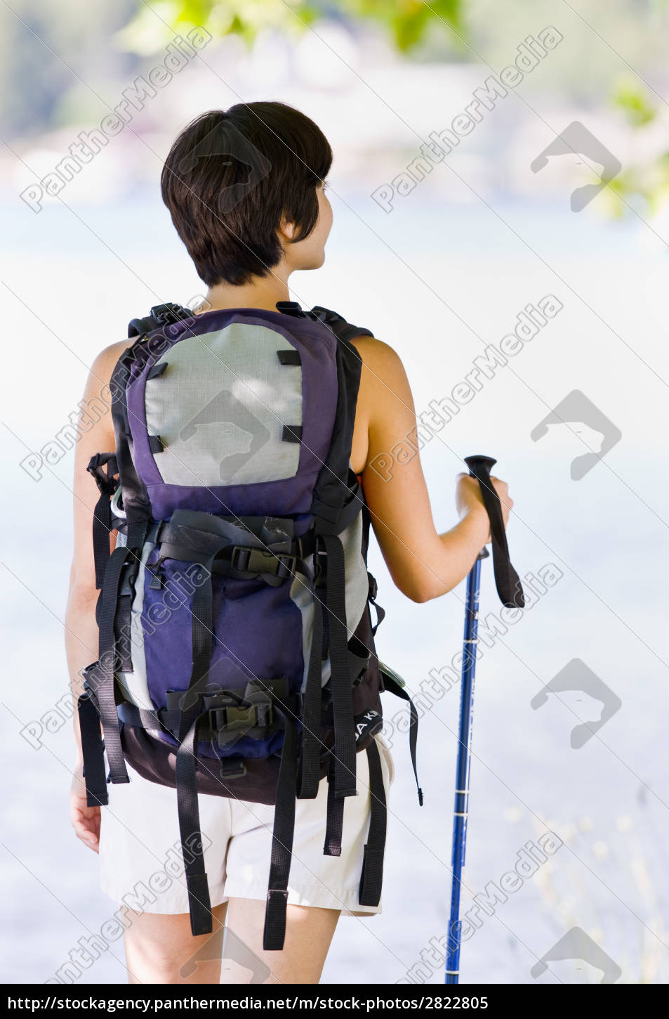 woman, hiking, with, backpack, and, walking - 2822805