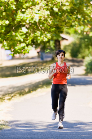 woman, running, in, park - 2822785
