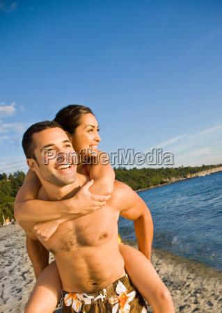 boyfriend, giving, girlfriend, piggy, back, ride - 2823757