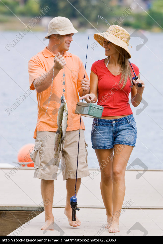 couple, fishing, on, pier - 2823363