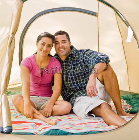 couple, sitting, in, tent - 2823963